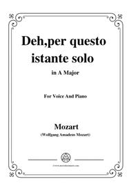 Mozart-Deh,per questo istante solo,from 'La Clemenza di Tito',in A Major,for Voice and Piano