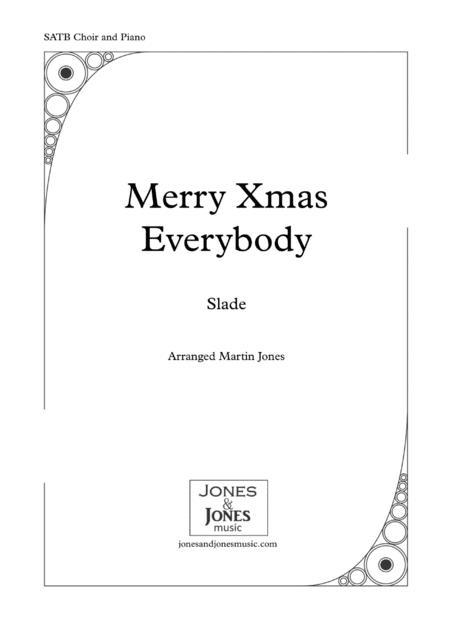 Merry Xmas Everybody (SATB Choir and Piano)