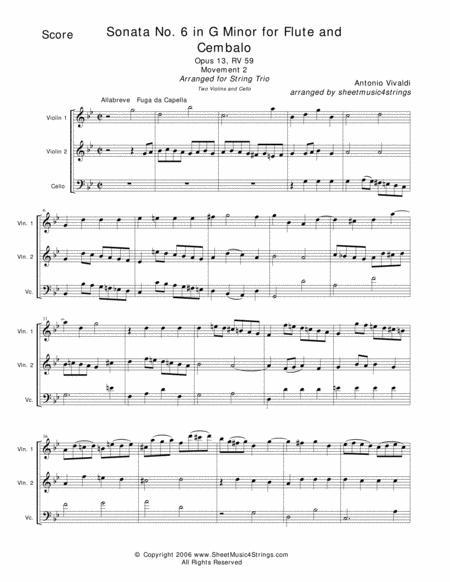 Vivaldi, A. - Sonata No. 1 Mvt. 2 for Two Violins and Cello