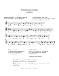 Antiphon: Studium divinitatis, from Anonymous 4's album