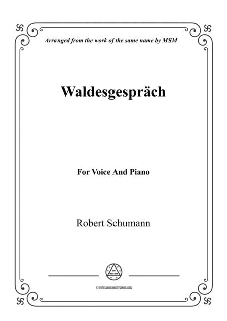 Schumann-Waldesgespräch,for Violin and Piano