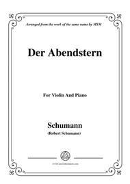 Schumann-Der Abendstern,Op.79,No.1,for Violin and Piano