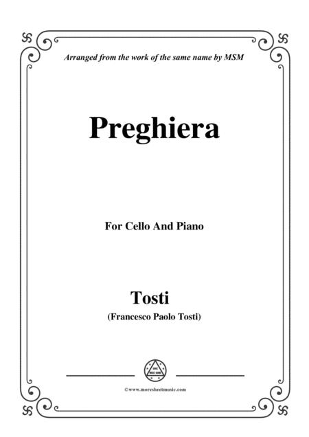 Tosti-Preghiera, for Cello and Piano