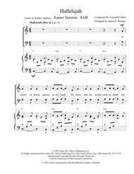 Hallelujah - Easter Version - 3 Part - SAB