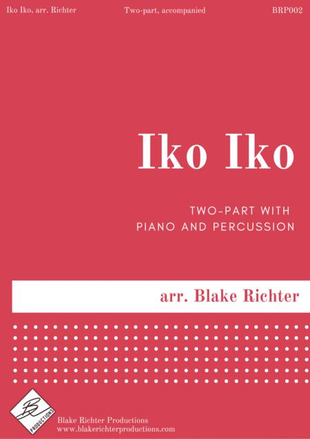 Iko Iko - 2 Part Treble