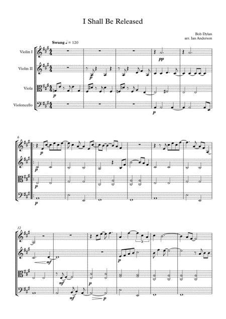 I Shall Be Released (string quartet)