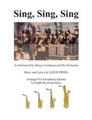 Sing, Sing, Sing (for Saxophone Quartet)