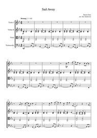 Sail Away (string quartet)