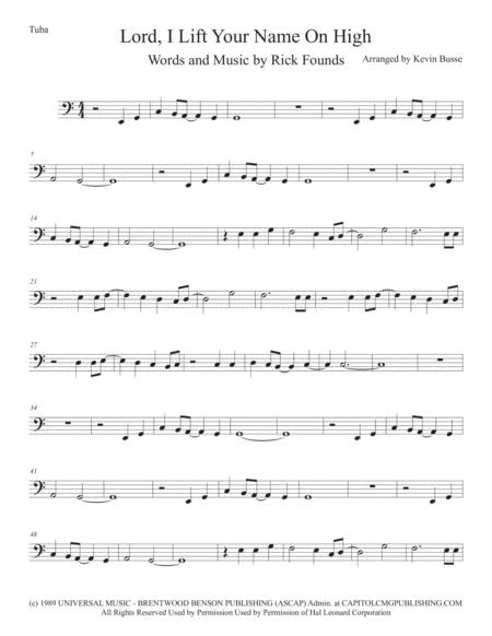 Lord, I Lift Your Name On High - Tuba (Easy key of C)