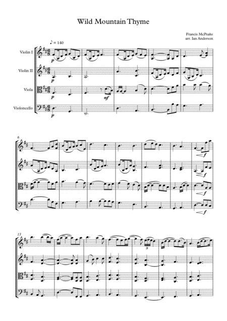 Wild Mountain Thyme (string quartet)