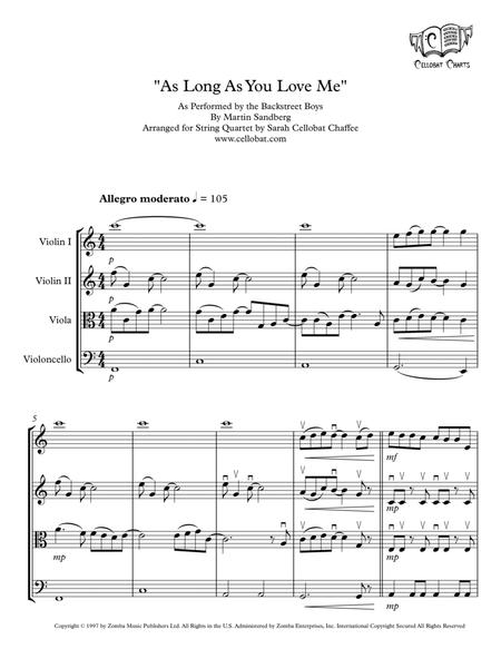 As Long As You Love Me - String Quartet - Backstreet Boys arr. Cellobat