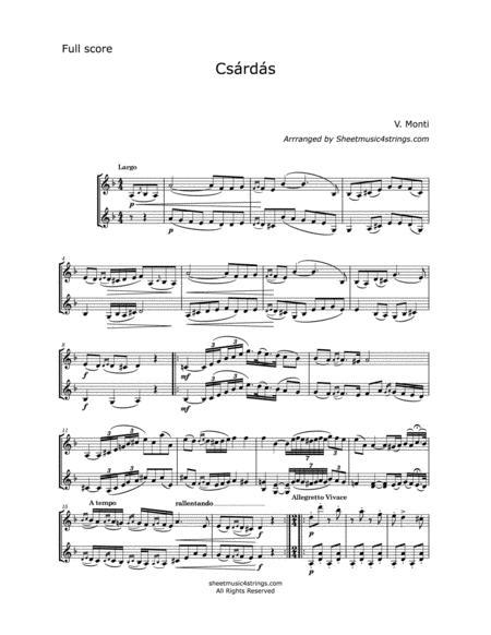 Monti, V. - Czardas for two Violins