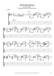 All Falls Down (Solo Guitar Tablature)