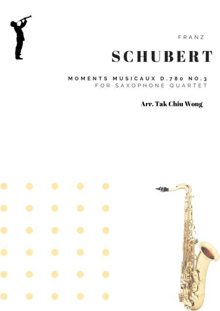 Moments Musicaux D.780 No.3 for Saxophone Quartet