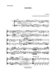 Monti, V. - Csardas for Violin and Viola