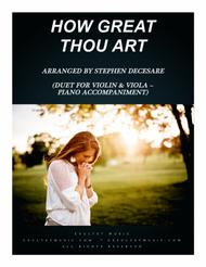 How Great Thou Art (Duet for Violin and Viola - Piano Accompaniment)