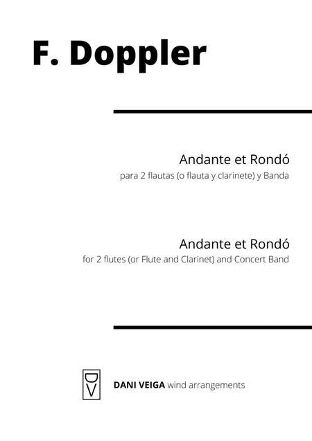 Doppler - Andante et Rondó (2 flutes and Concert Band)