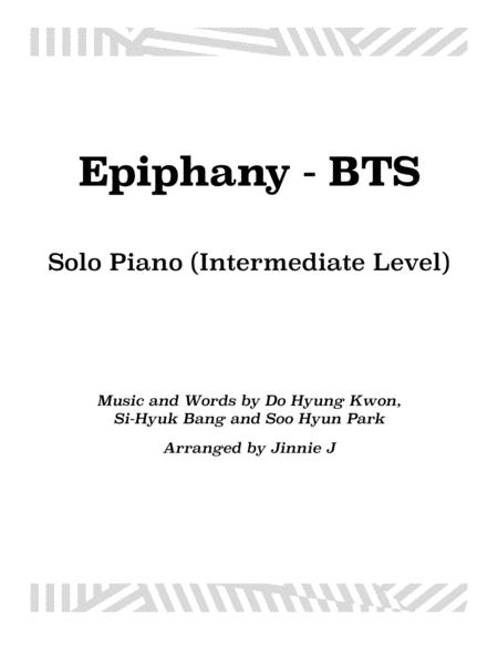 Epiphany - BTS for piano (Intermediate Level)