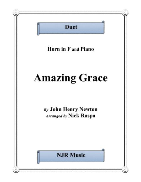 Amazing Grace (Horn in F & Piano)