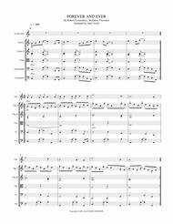 Forever And Ever (And Ever) for Solo voice or instrument (violin, flute, oboe ... ) with string orchestra (Quartet/Quintet)