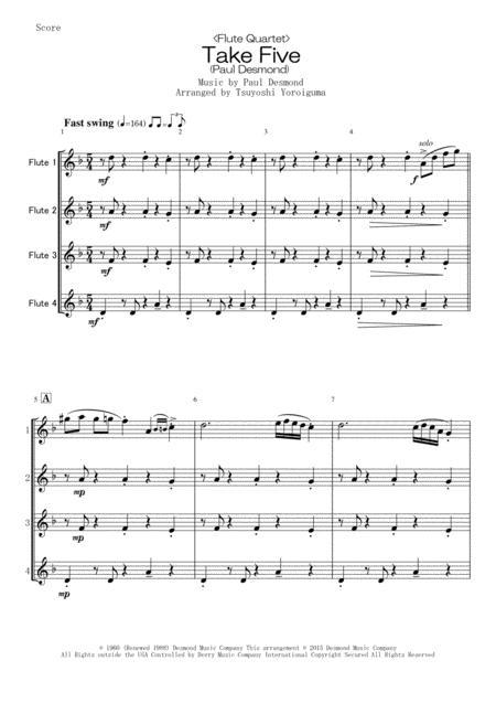 <Flute Quartet> Take Five (Paul Desmond)