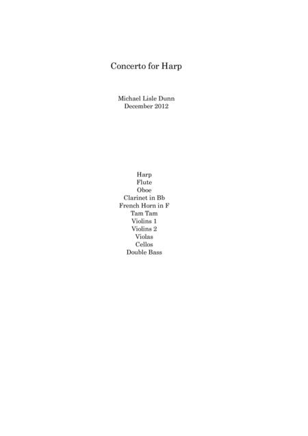 Concerto for Harp and Chamber Orchestra (Score and ALL PARTS)