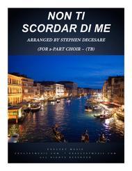 Non Ti Scordar Di Me (for 2-part choir - (TB)
