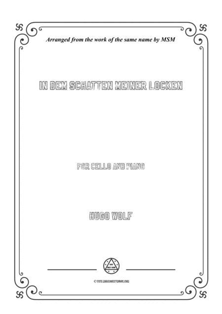 Wolf-In dem Schatten meiner Locken, for Cello and Piano