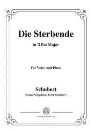 Schubert-Die Sterbende,in B flat Major,for Voice&Piano