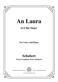 Schubert-An Laura,in E flat Major,for Voice&Piano