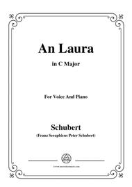 Schubert-An Laura,in C Major,for Voice&Piano