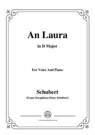 Schubert-An Laura,in D Major,for Voice&Piano