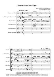 Don't Stop Me Now by Queen - Saxophone quintet (SATTB-AATTB)