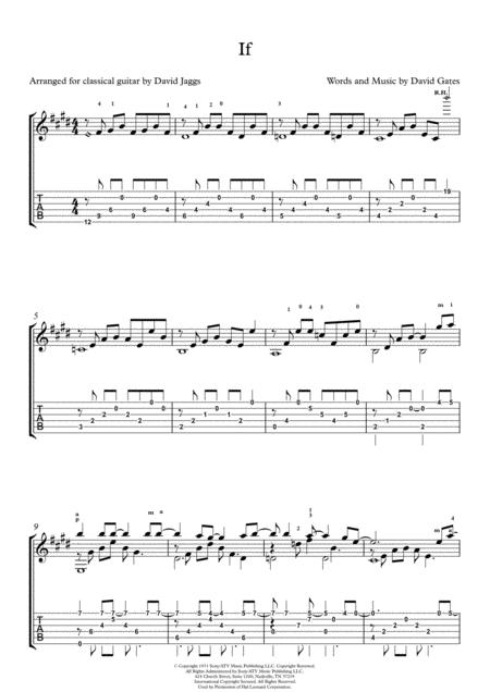 If (including tablature)