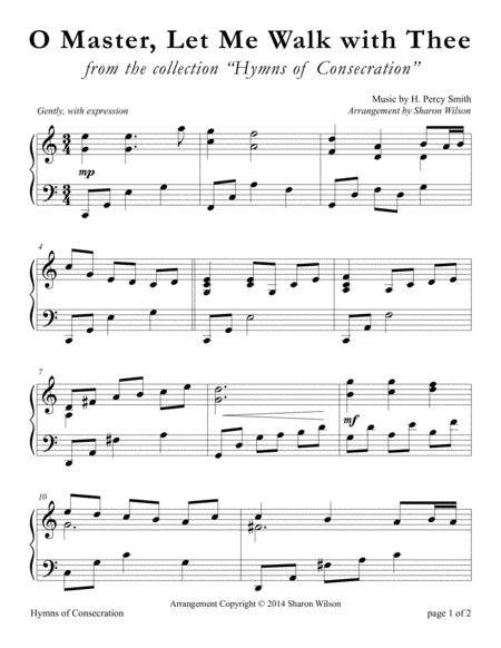 O Master, Let Me Walk with Thee (LARGE PRINT Piano Solo)