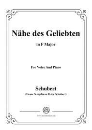 Schubert-Nähe des Geliebten,Op.5 No.2,in F Major,for Voice&Piano