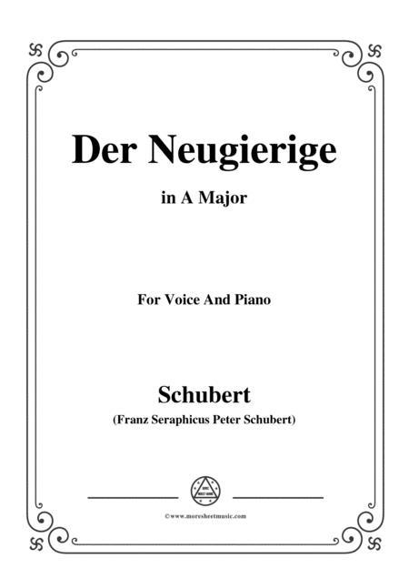 Schubert-Der Neugierige,from 'Die Schöne Müllerin',Op.25 No.6,in A Major,for Voice&Piano