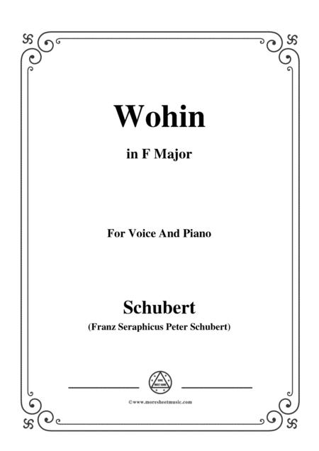 Schubert-Wohin,from 'Die Schöne Müllerin',Op.25 No.2,in F Major,for VoiceΠano