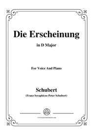 Schubert-Die Erscheinung,Op.108 No.3,in D Major,for Voice&Piano