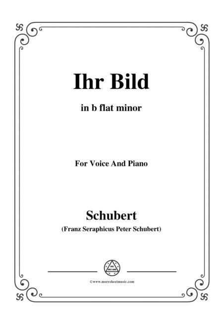 Schubert-Ihr Bild,in b flat minor,for Voice&Piano