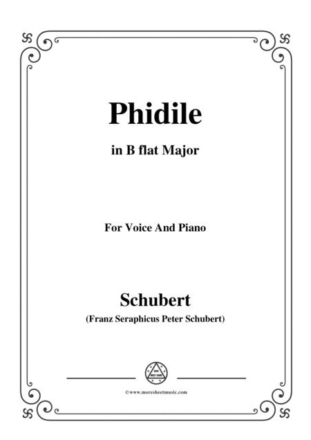Schubert-Phidile,in B flat Major,for Voice&Piano