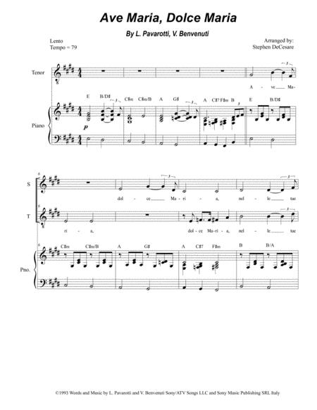 Ave Maria, Dolce Maria (Duet for Soprano and Tenor Solo)