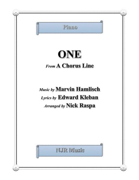 One (from A Chorus Line) jazz piano