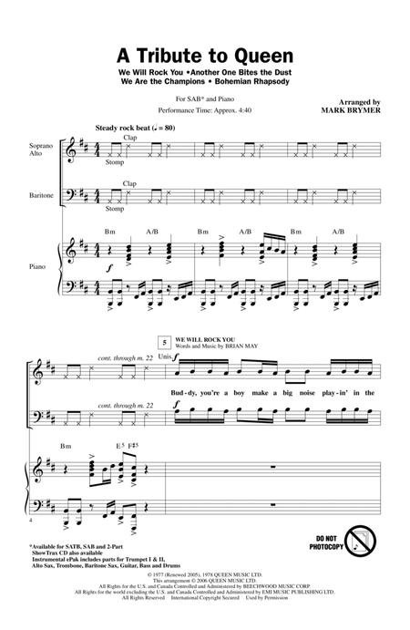 A Tribute To Queen (Medley) (arr. Mark Brymer)