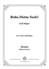 Richard Strauss-Ruhe,Meine Seele! In B Major,for voice and piano