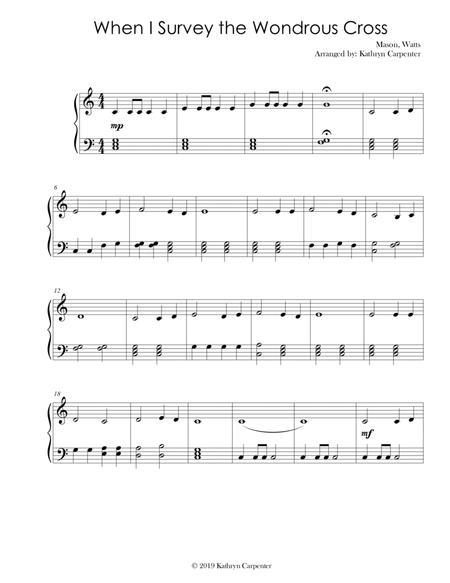 When I Survey the Wondrous Cross (Easy Piano)