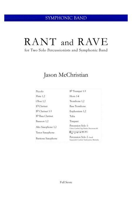 Rant and Rave - for Two Percussionists and Symphonic Band