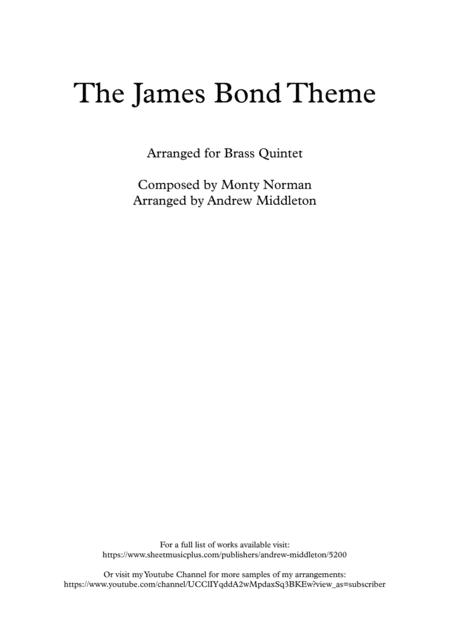 James Bond Theme arranged for Brass Quintet