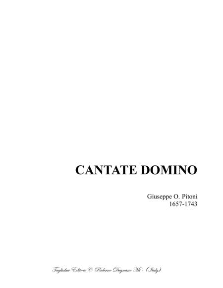 CANTATE DOMINO - G.O. Pitoni - For SATB Choir
