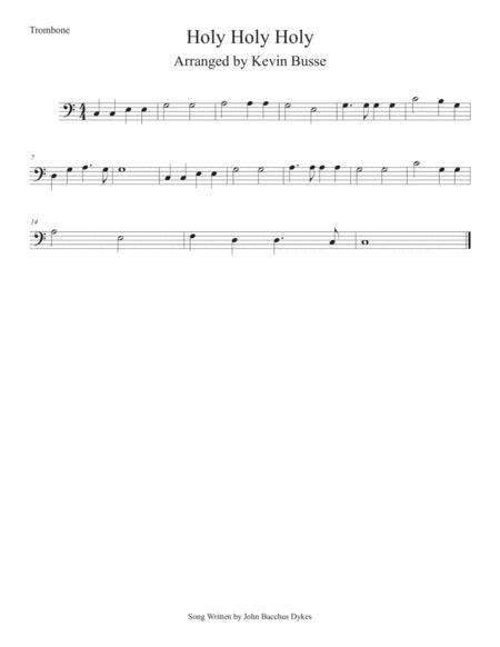 Holy Holy Holy (Easy key of C) Trombone
